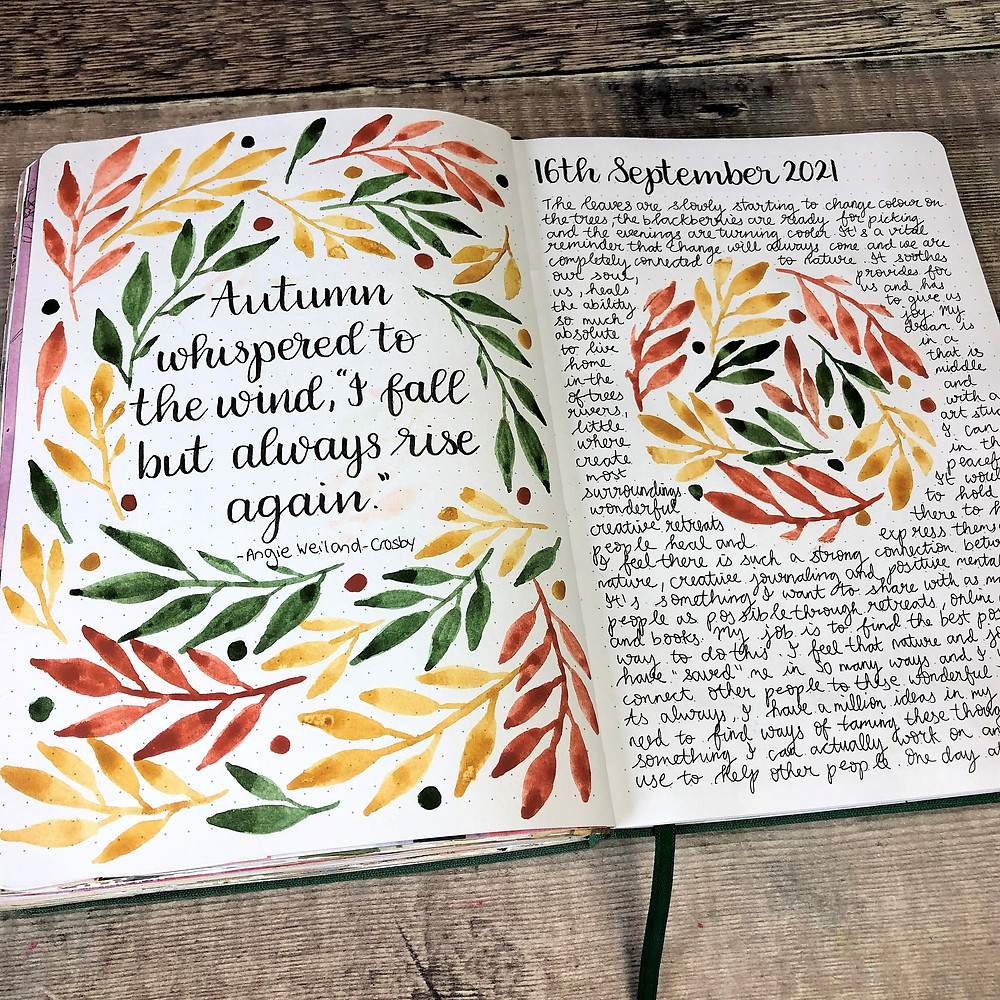 Leafy Wreath Journal Pages