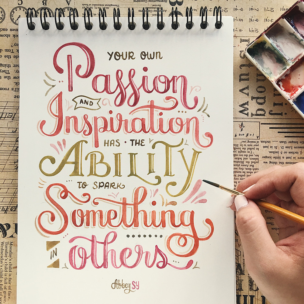 Abbey Sy Brush Lettering