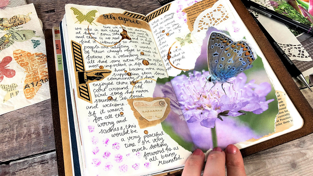 Journaling with Recycled Items