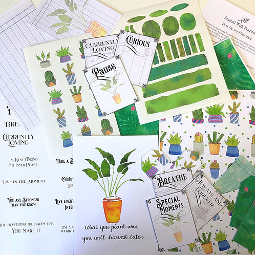 Journal Printables Bundle - Pot Plant Paradise