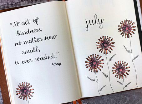 Bullet Journal Setup for July