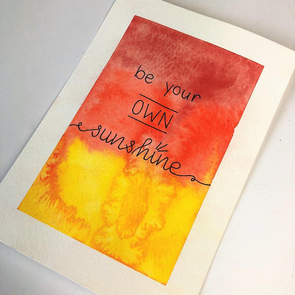 Watercolour Quote Free Printable