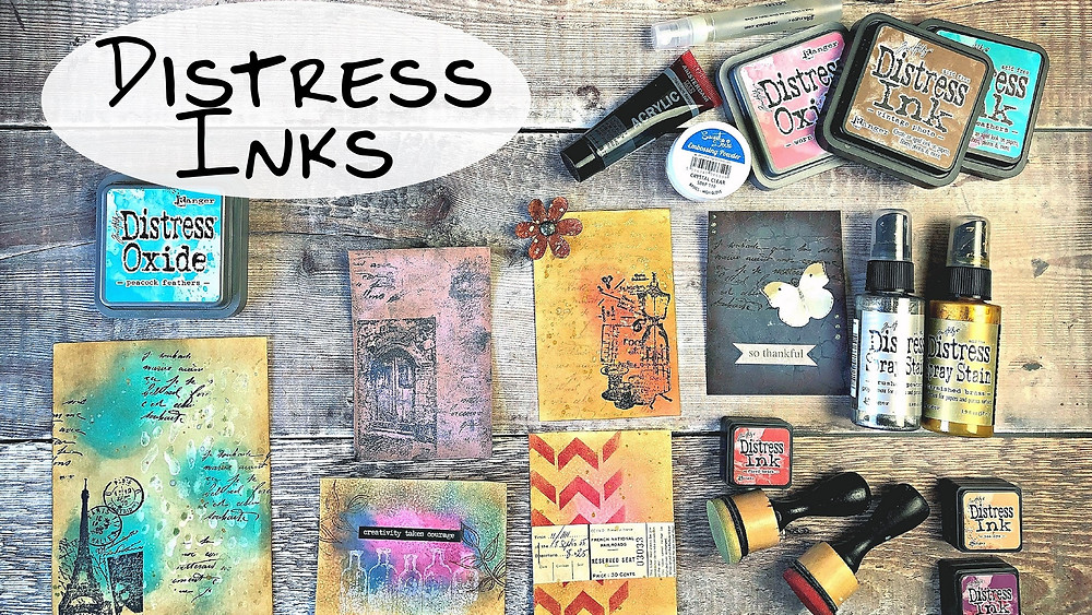 Distress Ink Journaling Cards