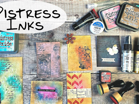 Using Distress Inks to Create Journaling Cards