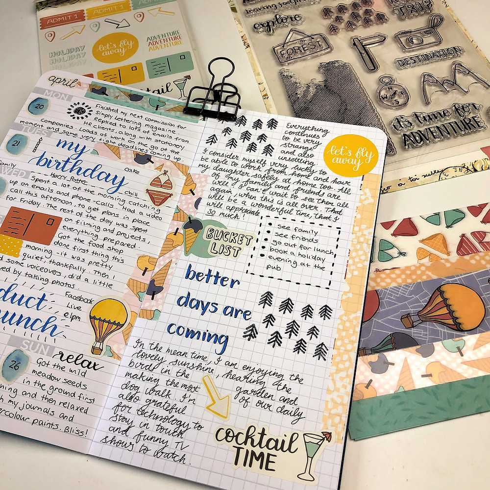Bright Journal Pages