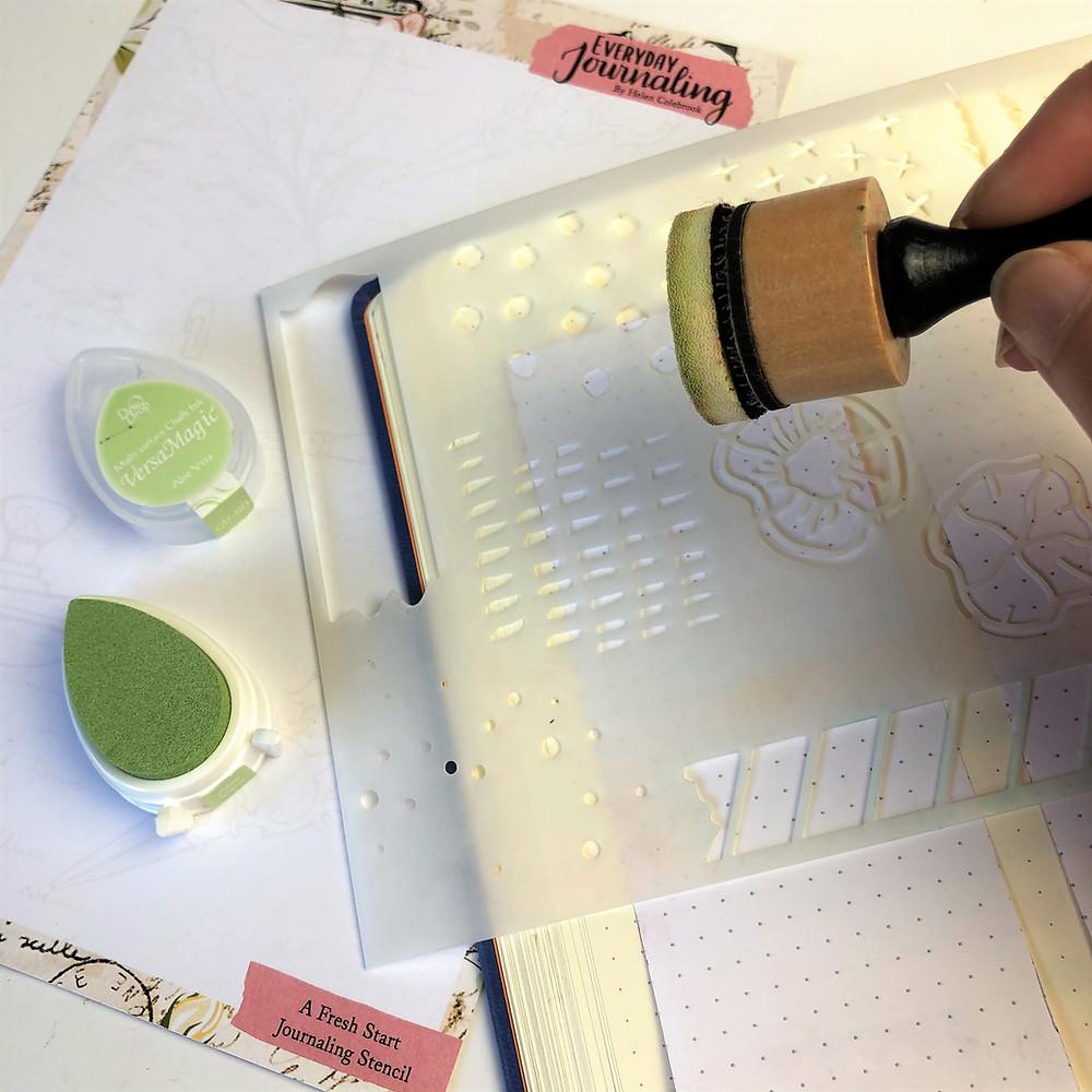 Journal stencilling