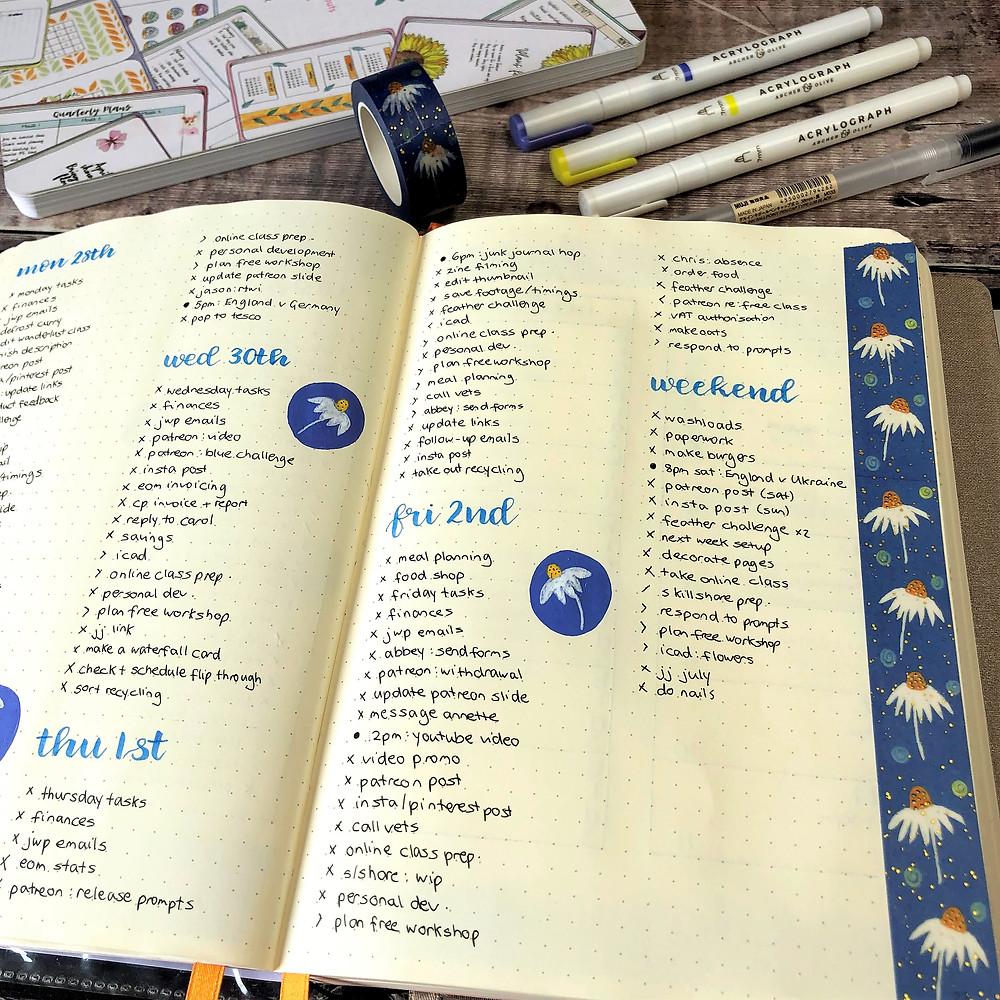 Bullet Journal Daily Plans