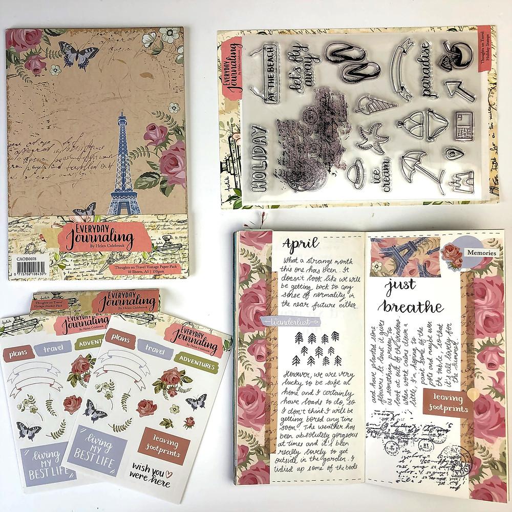 Vintage Journal Supplies Travel