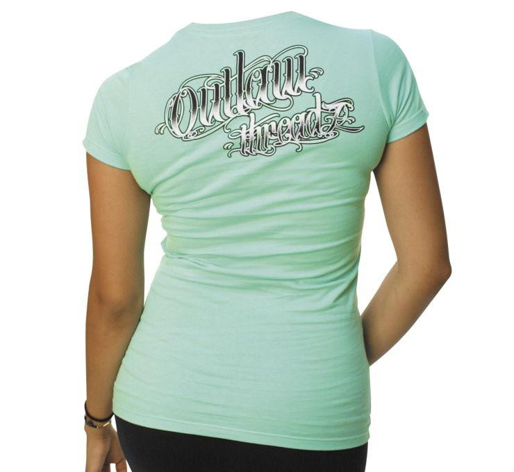 OUTLAW THREADZ WOMENS BEARDS AND WHISKEY BIKER TEE T SHIRT STARNSANDSONS.COM
