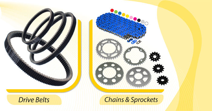 DRIVE BELTS SPROCKETS CHAINS