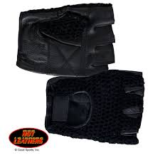 Hot Leathers fingerless mesh