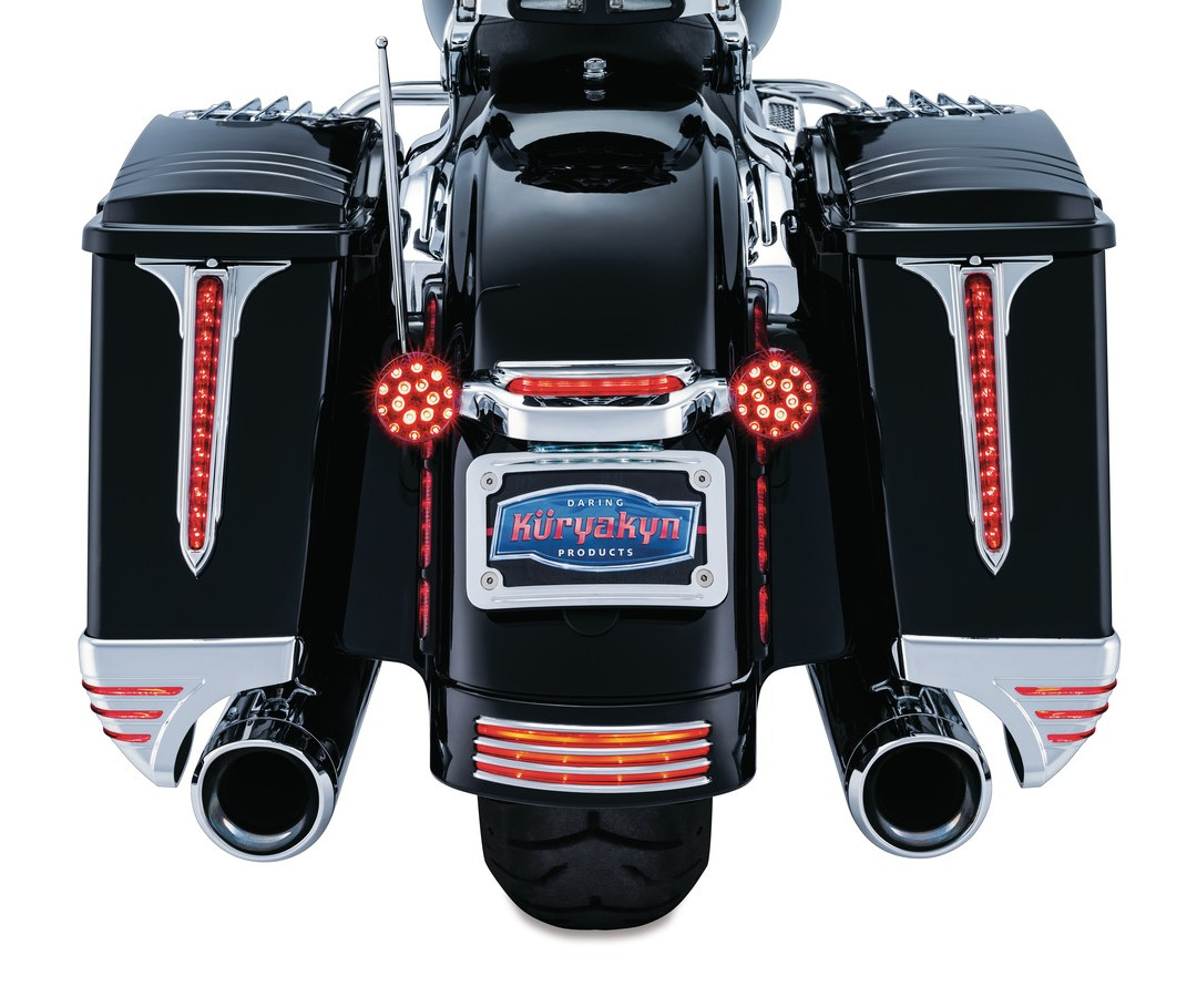 KURYAKYN LED SADDLEBAG ACCENT SPEAR HARLEY FLHX STREETGLIDE STARNSANDSONS.COM