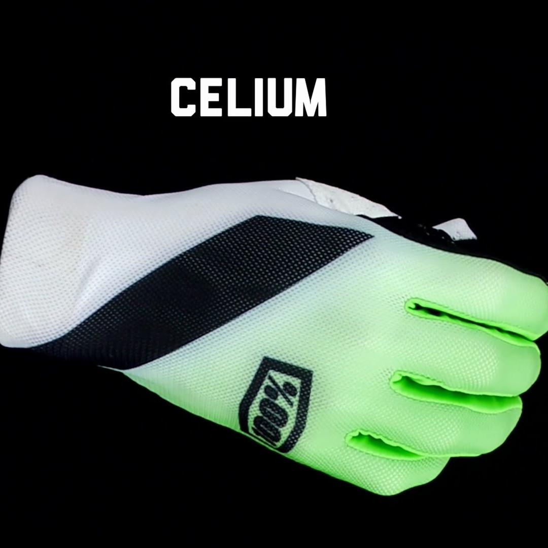 100% CELIUM BARE SKIN RACING GLOVES PADDED THUMB OVERLAY  STARNSANDSONS.COM
