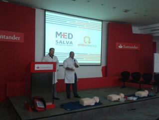 A Med Salva realiza treinamento de Primeros Socorros para os funcionários do Banco Santander