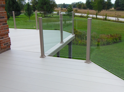 Sunspace by NuBuild - Glass Top Railings