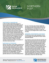Northern Pulp Overview and Benchmarking