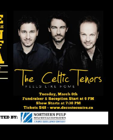 The Celtic Tenors at the deCoste Centre Season Kick-Off Gala