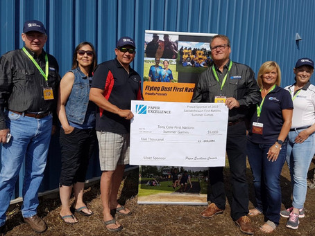Paper Excellence, Meadow Lake Mechanical Pulp sponsor Tony Cote Summer Games