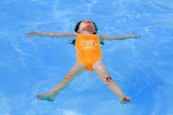 Floating on back