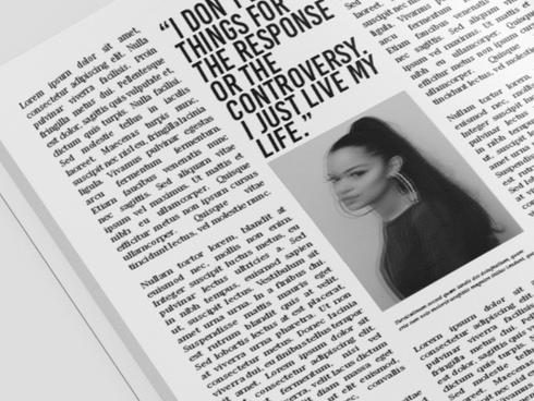 Concept | Artist Magazine Spread