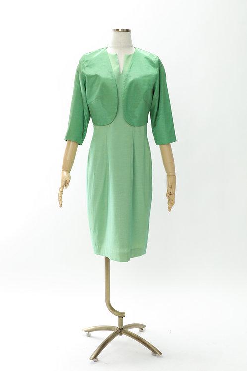 DRESS FREIA 特注オリジナルドレス | シルクワンピース(グリーン)