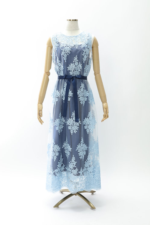 DRESS FREIA 特注オリジナルドレス   レースドレス(ライトブルー)