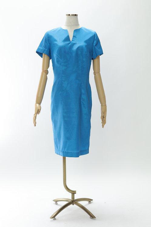 DRESS FREIA 特注オリジナルドレス   シルクワンピース(ブルー)