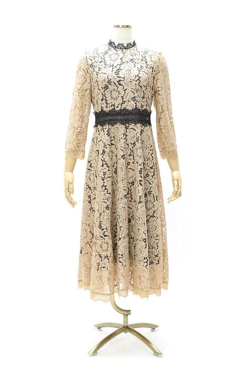 DRESS FREIA   レースドレス(ベージュ)