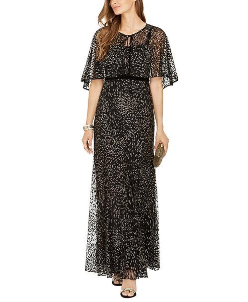 シャイニーケープロングドレス