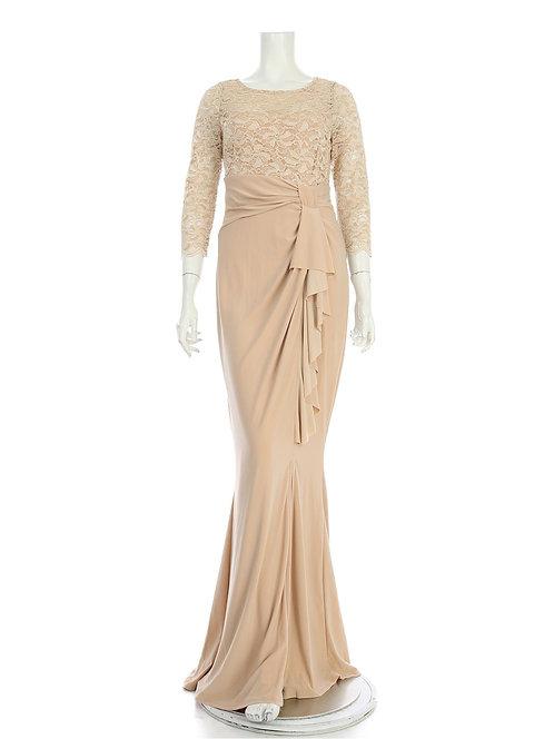 レーシーリボンロングドレス