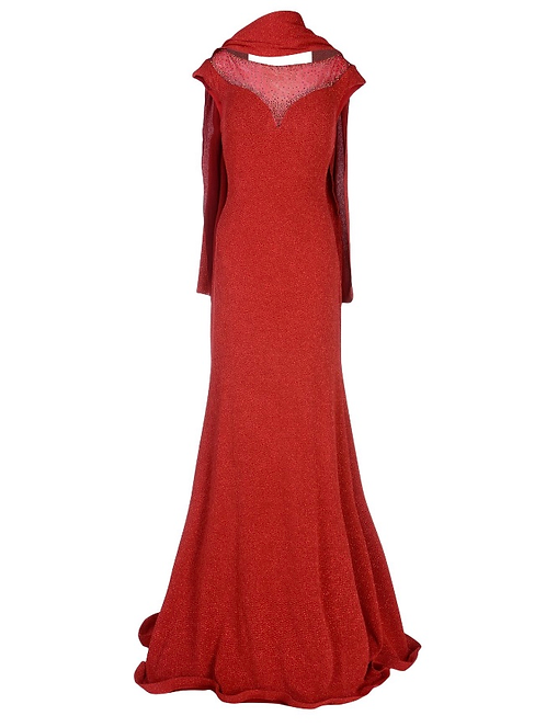 MUSANI GOLD   トレーンロングドレス