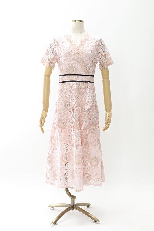 DRESS FREIA | レースドレス(ピンク)