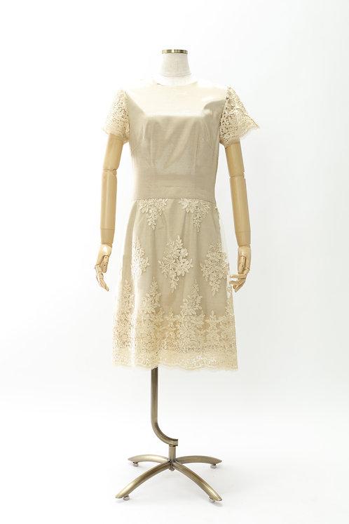 DRESS FREIA 特注オリジナルドレス | シルクレースドレス(ゴールド)