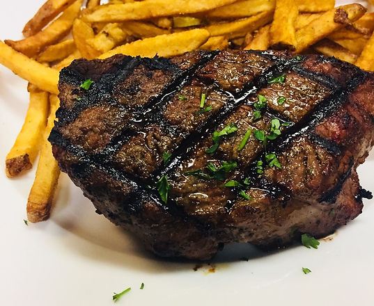 Grilled Sirloin with Fries