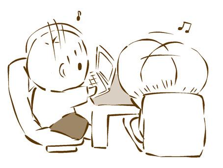 音楽が流れると