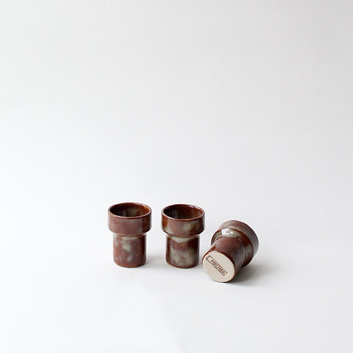 Brown & Marbled Espresso Cups