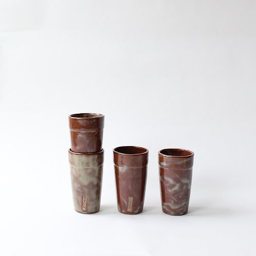 Brown & Marbled Cups