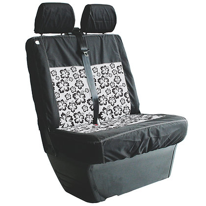 VW T5/T6 Double Front Seat Cover - HIBISCUS