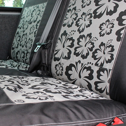 VW T5 & T6  Kombi Double Rear Seat Cover - HIBISCUS