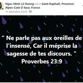 Proverbes 23:9