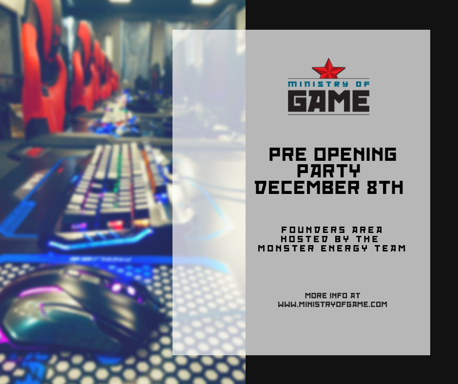 Ministry of Game Pre Opening Party with 8-Bit Beans