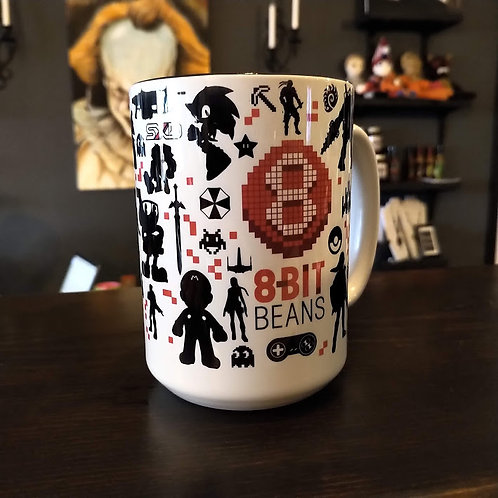 8-Bit Beans 15oz. Mug Wholesale