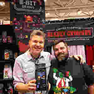 Victor Lucas and Brad Mavin at FanExpo 2018 with 8-Bit Beans