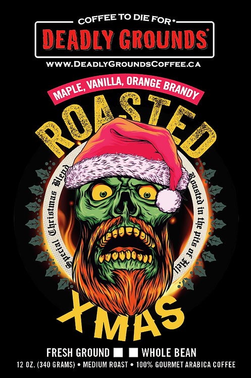 Roasted Christmas - Orange Brandy, Maple and Vanilla (340 grams Wholesale)