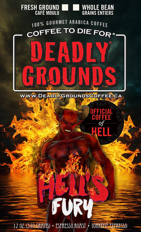 Hell's Fury - Dark Full City Roast (5lb. Wholesale)