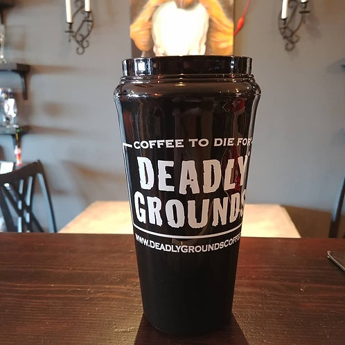 Deadly Grounds Travel Mug