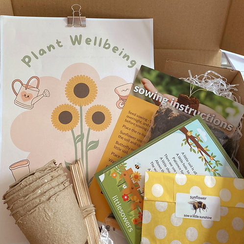 Plant Wellbeing Kit - Sunflowers