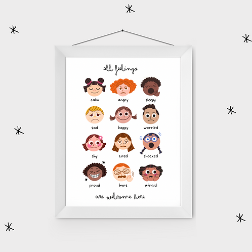 All Feelings Poster - Printed & Posted