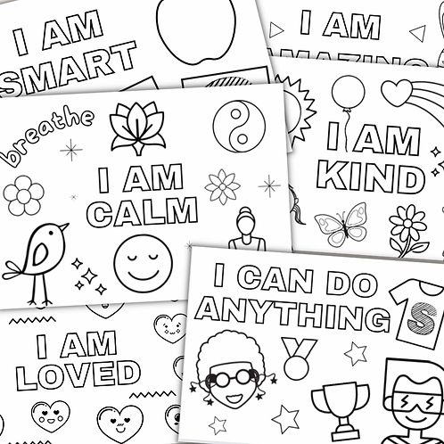 Affirmation Colouring Sheets - Printable