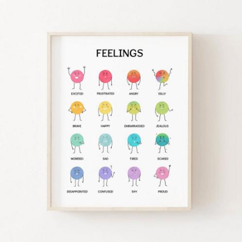 My Feelings Poster - A4